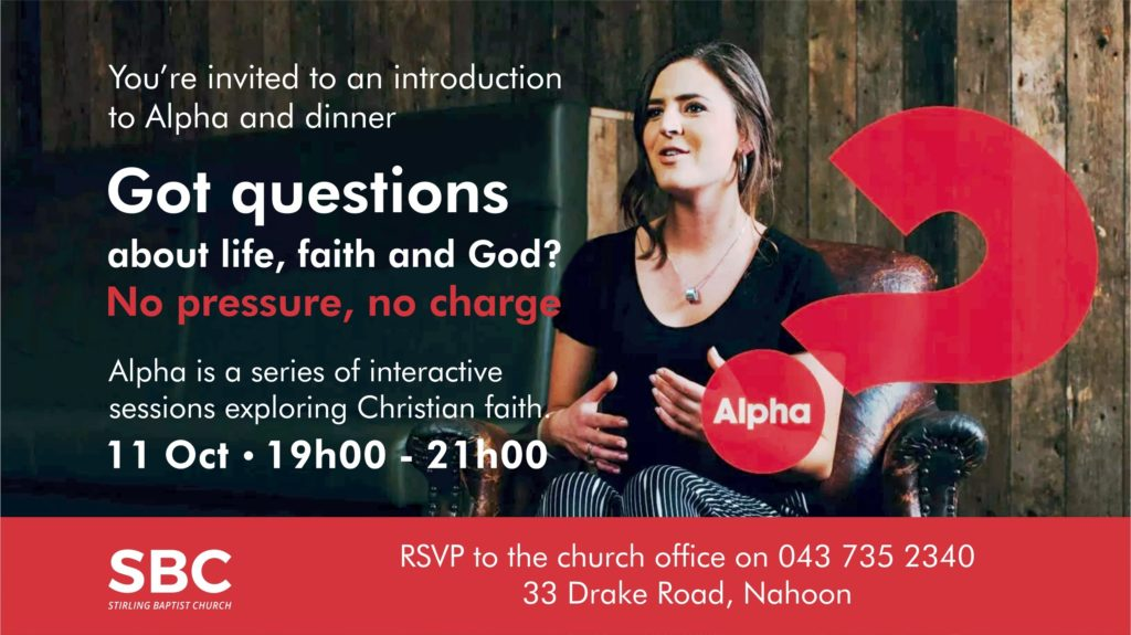 Alpha Course Intro - TV