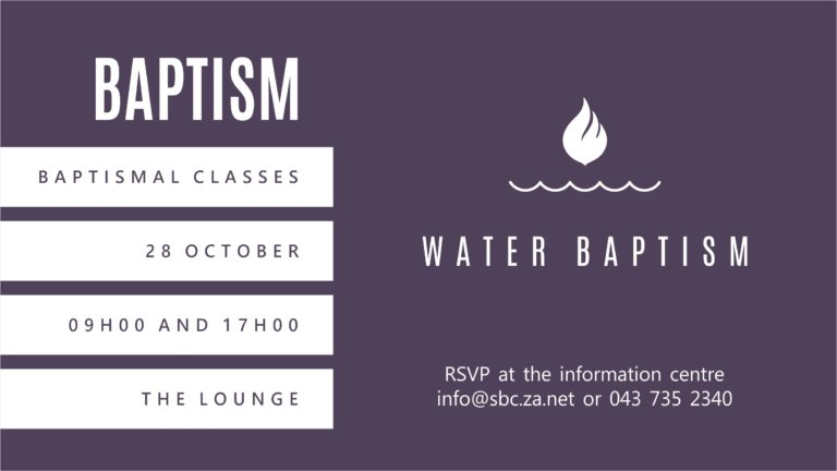 Baptismal Classes Slide (TV)